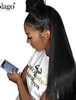 Недорогие -Натуральные волосы Лента спереди Парик Малазийские волосы Естественный прямой Парик Глубокое разделение Боковая часть 250% Плотность волос с детскими волосами Подарок Горячая распродажа Удобный