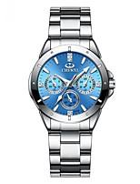 Недорогие -Жен. Нарядные часы Кварцевый Серебристый металл Защита от влаги Фосфоресцирующий Аналоговый Дамы На каждый день Мода - Зеленый Розовый Светло-синий