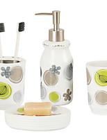 Недорогие -Держатель для зубных щеток / Набор для ванной Креатив Современный Керамика На стену