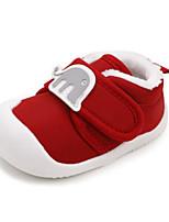 Недорогие -Мальчики / Девочки Обувь Хлопок Зима Обувь для малышей Кеды На липучках для Ребёнок до года Розовый / Светло-синий / Вино