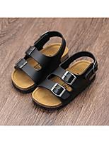 Недорогие -Мальчики / Девочки Обувь Полиуретан Лето Удобная обувь Сандалии для Дети Белый / Черный