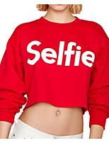 Недорогие -женская хлопчатобумажная свободная футболка - буква шея
