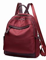 Недорогие -Жен. Мешки PU рюкзак Молнии Сплошной цвет Черный / Красный