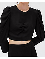 Недорогие -Жен. Рубашка Активный Однотонный