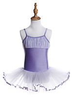 abordables -Danse classique Robes Fille Entraînement / Utilisation Polyester / Spandex Ondulé / Combinaison Sans Manches Robe