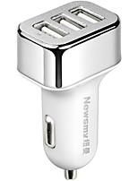 Недорогие -Newmine Автомобиль Автомобильное зарядное устройство / Прикуриватель 3 USB порта для 5 V