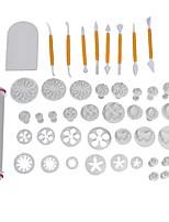 Недорогие -Инструменты для выпечки пластик Торты Формы для пирожных Десертные инструменты 50шт