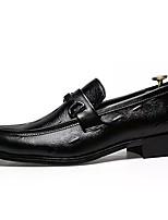 Недорогие -Муж. Комфортная обувь Полиуретан Осень На каждый день Мокасины и Свитер Нескользкий Черный
