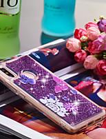 Недорогие -Кейс для Назначение Xiaomi Mi 8 SE Защита от удара / Сияние и блеск Кейс на заднюю панель Бабочка / Сияние и блеск Мягкий ТПУ для Xiaomi Mi 8 SE