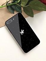 Недорогие -Кейс для Назначение Apple iPhone X / iPhone 8 Plus С узором Кейс на заднюю панель Слова / выражения Твердый Закаленное стекло для iPhone X / iPhone 8 Pluss / iPhone 8