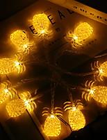 baratos -3M Cordões de Luzes 20 LEDs Branco Quente Decorativa Baterias AA alimentadas 1conjunto