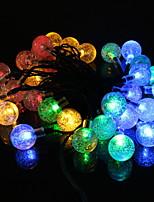 Недорогие -3.5м Гирлянды 20 светодиоды Разные цвета Декоративная Солнечная энергия 1 комплект