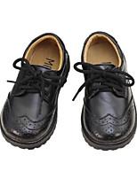 Недорогие -Девочки Обувь Кожа Весна лето Удобная обувь Туфли на шнуровке для Дети (1-4 лет) Белый / Черный / Черно-белый