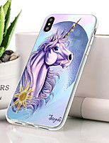 baratos -Capinha Para Apple iPhone XS Max Ultra-Fina / Estampada Capa traseira Animal Macia TPU para iPhone XS Max