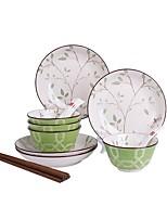abordables -16 pièces 28 pièces Bols Assiettes Plats de Service Vaisselle Porcelaine Céramique Mignon Créatif Design nouveau