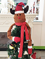 Недорогие -Новогодние ёлки / Рождественские украшения Новогодняя ёлка Нетканый материал Круглый Оригинальные Рождественские украшения