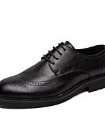 Недорогие -Муж. Официальная обувь Искусственная кожа Осень Английский Туфли на шнуровке Черный / Коричневый / Свадьба / Для вечеринки / ужина