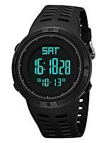 baratos -Homens Relógio Esportivo Japanês Digital 30 m Impermeável Calendário Dois Fusos Horários Silicone Banda Digital Fashion Preta / Verde - Preto Verde