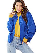 Недорогие -Жен. Куртка Уличный стиль - Однотонный