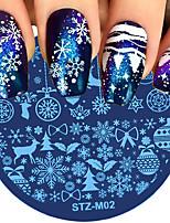 baratos -8 pcs Decalques Multifunção / Durável Natal Criativo arte de unha Manicure e pedicure Diário Na moda / Fashion