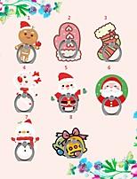 abordables -Bureau Support de support Christmas Santa Claus Phone Holder Ajustable / Rotation 360 ° Polycarbonate Titulaire