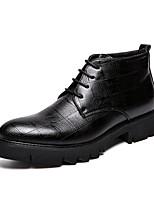 Недорогие -Муж. Fashion Boots Полиуретан Наступила зима На каждый день / Английский Ботинки Ботинки Черный / на открытом воздухе / Офис и карьера