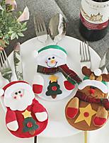 Недорогие -Рождество / Декоративные наборы / Рождественские украшения Семья Ткань Круглый Для вечеринок / Оригинальные Рождественские украшения