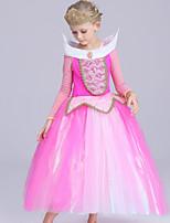 abordables -Robes Costume de Soirée Robe à clapet Robe de Noël Fille Enfant Princesse Halloween Noël Halloween Le Jour des enfants Fête / Célébration Polyester Tenue Rose Mosaïque
