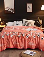 Недорогие -Супер мягкий, С принтом Цветы Полиэстер одеяла