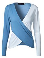 abordables -Tee-shirt Femme, Bloc de Couleur Chic de Rue