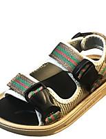 Недорогие -Мальчики / Девочки Обувь Синтетика Лето Удобная обувь Сандалии для Для подростков Черный / Хаки