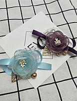 Недорогие -Свадебные цветы Букетик на запястье Свадьба / Свадебные прием Бусины / Шелк 0-10 cm