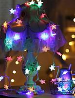 Недорогие -2м Гирлянды 10 светодиоды Разные цвета Декоративная Аккумуляторы AA 1 комплект