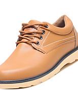 Недорогие -Муж. Комфортная обувь Полиуретан Осень На каждый день Туфли на шнуровке Дышащий Черный / Коричневый