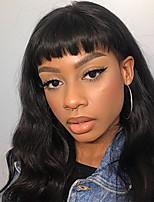 Недорогие -человеческие волосы Remy Полностью ленточные Лента спереди Парик Бразильские волосы Естественные кудри Свободные волны Черный Парик Ассиметричная стрижка 130% 150% 180% Плотность волос