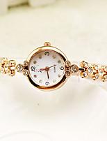 Недорогие -Жен. Нарядные часы Наручные часы Кварцевый Новый дизайн Повседневные часы сплав Группа Аналоговый Элегантный стиль минималист Золотистый - Золотой