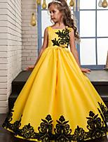 abordables -Princesse Rétro Années 70 Années 80 Costume Fille Robes Costume de Soirée Jaune / Rouge / Bleu Vintage Cosplay Polyester Sans Manches Tee-shirt