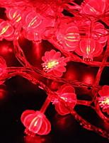 abordables -1.5m Guirlandes Lumineuses 10 LED Rouge Décorative Piles AA alimentées 1 set