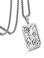 Недорогие -Муж. Старинный Ожерелья с подвесками - нержавеющий Шестерня Винтаж, Панк, Steampunk Cool Серебряный 60 cm Ожерелье Бижутерия 1шт Назначение Подарок, Для улицы