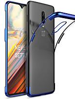 Недорогие -Кейс для Назначение OnePlus OnePlus 6 / One Plus 6T Покрытие Кейс на заднюю панель Однотонный Мягкий ТПУ для OnePlus 6 / One Plus 6T / One Plus 5