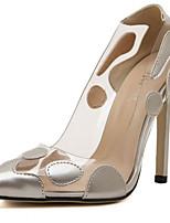 abordables -Femme Polyuréthane Printemps été Doux Chaussures à Talons Talon Aiguille Bout pointu Or / Argent / Rouge / Mariage / Quotidien
