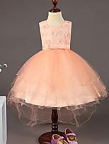 Недорогие -Дети Девочки Милая Однотонный Без рукавов Платье Розовый 150