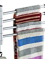 Недорогие -Держатель для полотенец Новый дизайн / Cool Современный Нержавеющая сталь / железо 1шт 4-полосная доска На стену