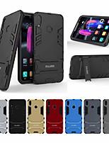 Недорогие -Кейс для Назначение Huawei Huawei Honor 8X Защита от удара / со стендом Кейс на заднюю панель Однотонный Твердый ПК для Huawei Honor 8X