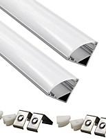 billiga -ZDM® 2pcs 100 cm Strip Light Accessory Plast och metall / Aluminum Lampskärm Vit / Klar för DIY Plant Flower Seed Light / för LED Strip-ljus