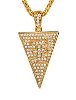 Недорогие -Муж. Прозрачный Цирконий Длиные Ожерелья с подвесками - Мода Золотой, Серебряный 55 cm Ожерелье Бижутерия 1шт Назначение Подарок, Повседневные
