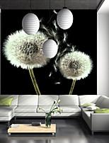 baratos -papel de parede / Mural Tela de pintura Revestimento de paredes - adesivo necessário Árvores / Folhas / Linhas / Ondas / 3D