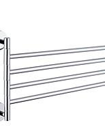 abordables -Barre porte-serviette Design nouveau / Cool Moderne Acier inoxydable / fer 1pc Barre à 4 serviettes Montage mural