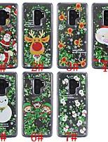 baratos -Capinha Para Samsung Galaxy S9 Plus / S8 Plus Antichoque / Liquido Flutuante / Transparente Capa traseira Natal Macia TPU para S9 / S9 Plus / S8