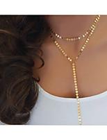Недорогие -Жен. Классический Цепочка - Золотой, Серебряный 55 cm Ожерелье Бижутерия 1 комплект Назначение Повседневные